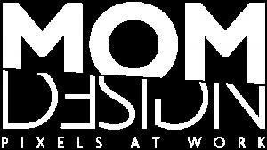 mom design logo white